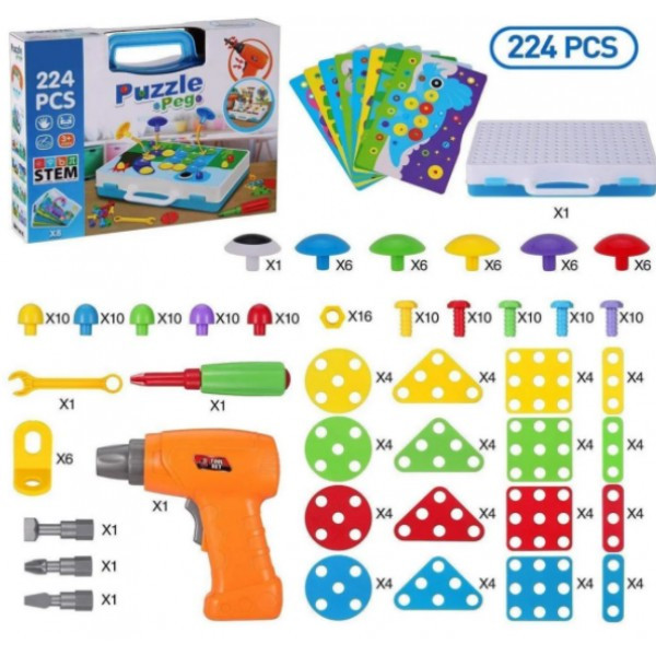 """Конструктор Tu Le""""Puzzle Peg"""" валізу (224 деталі) TLH-29"""