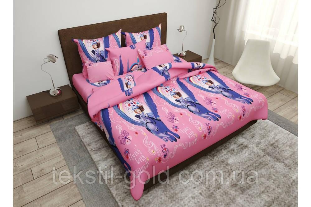 Детский постельный комплект FLYING бязь голд (2шт Наволочки) ТМ Kris-pol 1,5-спальный