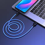 Дата кабель Hoco X21 Plus Fluorescent Silicone Type-C Cable (1m), фото 4