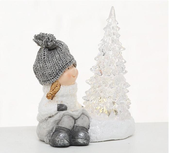 Ночник LED ребенок h14см керамика