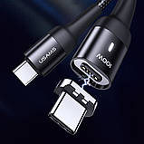 Дата кабель USAMS US-SJ466 U58 Type-C to Type-C 100W PD Fast Charge Magnetic Data Cable (1.5m), фото 3