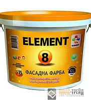 ELEMENT 8 (Элемент) Фасадная матовая вододисперсионная краска 10 л