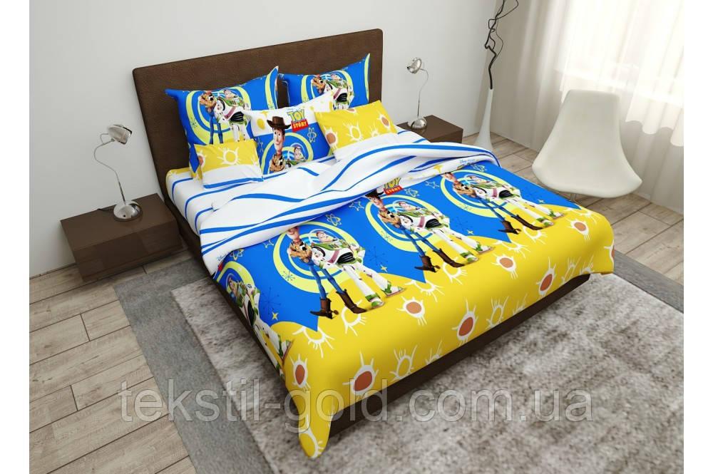Детский постельный комплект ISTORIYA IGRUSHOK бязь голд (2шт Наволочки) ТМ Kris-pol 1,5-спальный