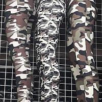 Лосины женские утепленные с камуфляжным принтом, фото 1