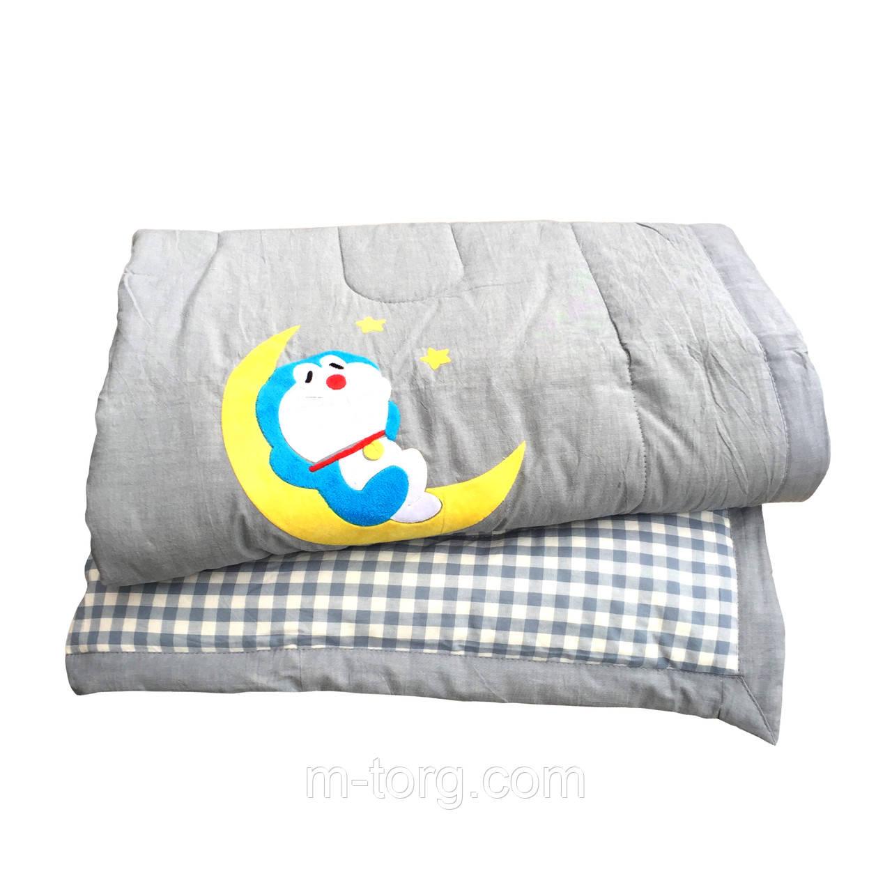 Дитяче ковдру холлофайбер 110/140 см, тканина бавовна 100%