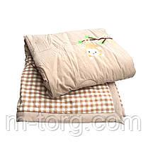 Дитяче ковдру холлофайбер 110/140 см, тканина бавовна 100%, фото 2