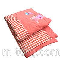 Дитяче ковдру холлофайбер 110/140 см, тканина бавовна 100%, фото 3