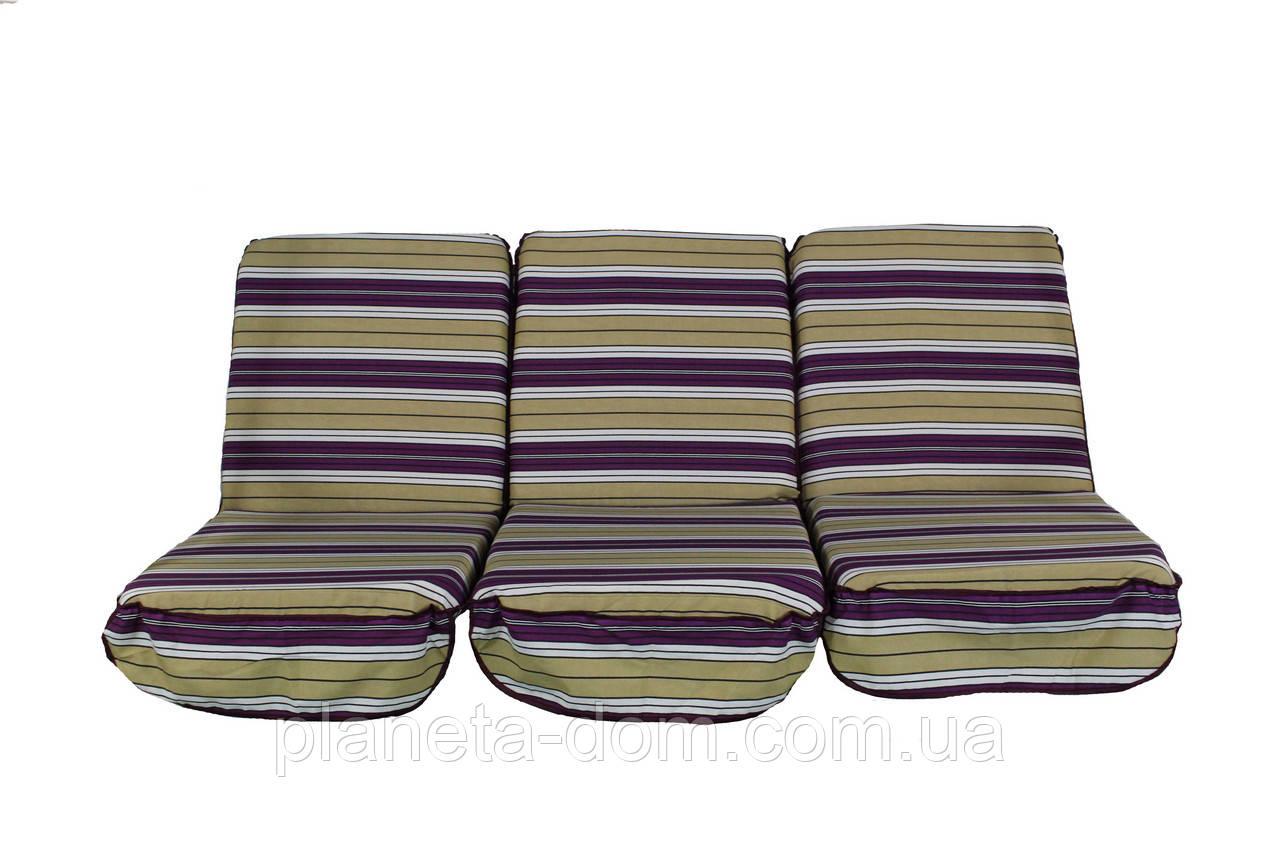 Комплект поролоновых подушек для садовой качели 168 см (003)