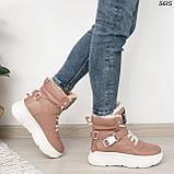 Ботинки женские зимние розовые 5615, фото 2