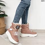 Ботинки женские зимние розовые 5615, фото 3