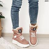 Ботинки женские зимние розовые 5615, фото 4
