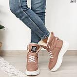 Ботинки женские зимние розовые 5615, фото 5