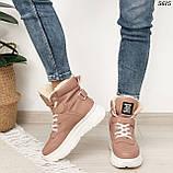 Ботинки женские зимние розовые 5615, фото 6