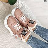 Ботинки женские зимние розовые 5615, фото 8