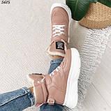 Ботинки женские зимние розовые 5615, фото 9