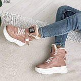 Ботинки женские зимние розовые 5615, фото 10