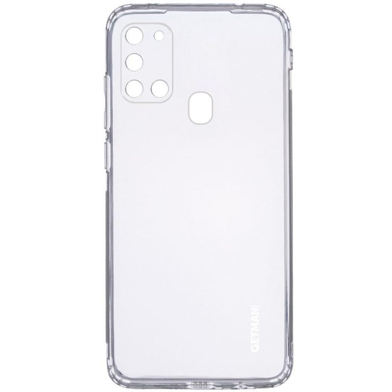 TPU чехол GETMAN Clear 1,0 mm для Samsung Galaxy A21s