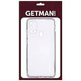 TPU чехол GETMAN Clear 1,0 mm для Samsung Galaxy A21s, фото 2
