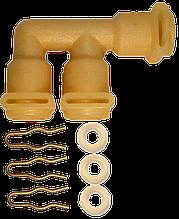 607227 Трійник термоблоку F-подібний Jura, Bosch, Siemens, Melitta