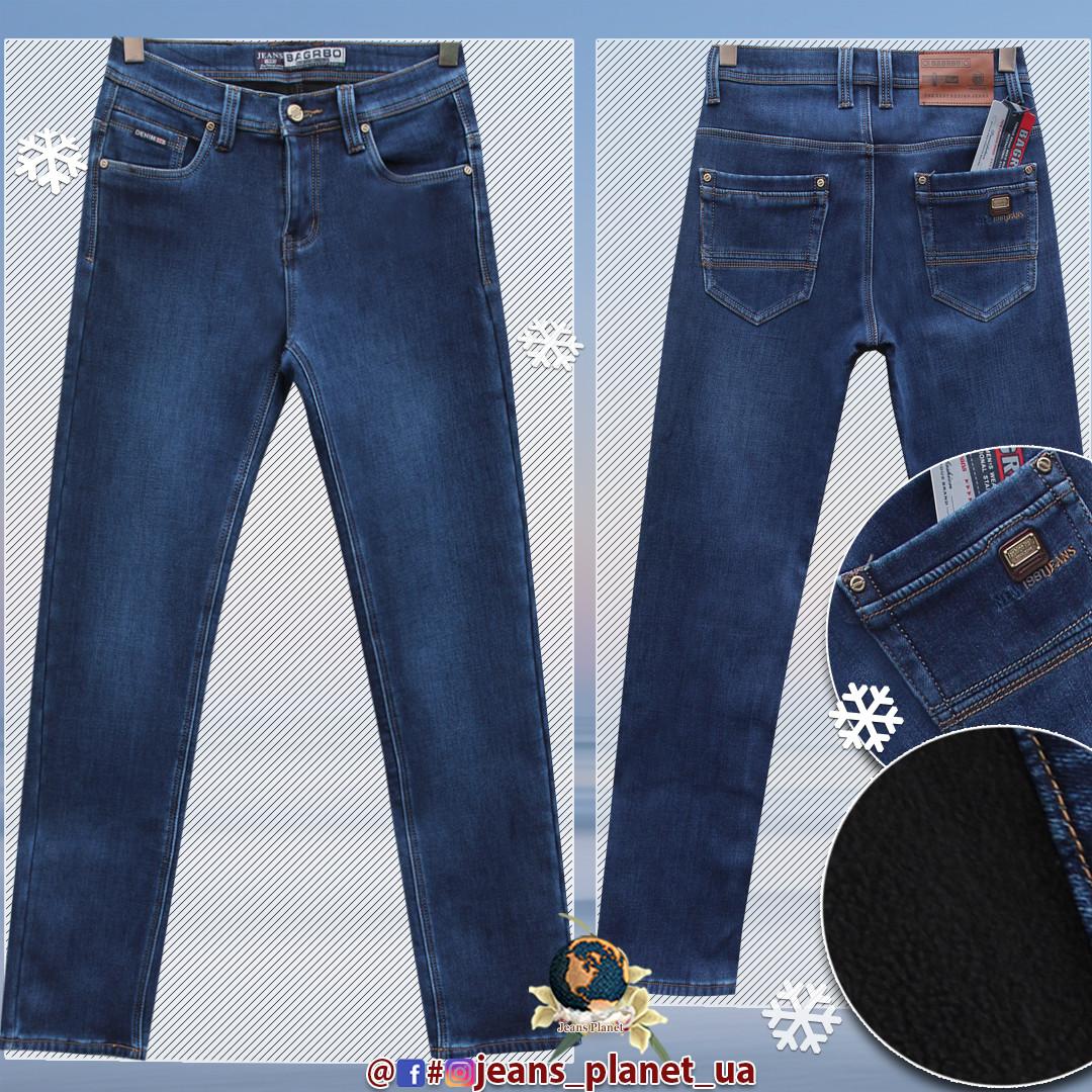 Зимние мужские классические джинсы прямого покроя Bagrbo