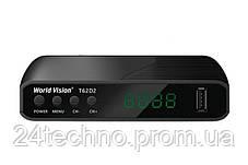 Приставка Т2 тюнер ресивер приемник World Vision T62D2 YouTube IPTV, фото 2