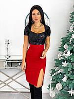 Женское двухцветное вечернее платье с разрезом, фото 1