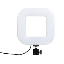 Квадратная светодиодная LED-Лампа для Селфи Selfie Ring Fill Light D=21 см 5500K - 3200К 3 Режима освещения, фото 3