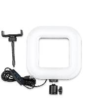 Квадратная светодиодная LED-Лампа для Селфи Selfie Ring Fill Light D=21 см 5500K - 3200К 3 Режима освещения, фото 2