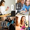 Квадратная светодиодная LED-Лампа для Селфи Selfie Ring Fill Light D=21 см 5500K - 3200К 3 Режима освещения, фото 5