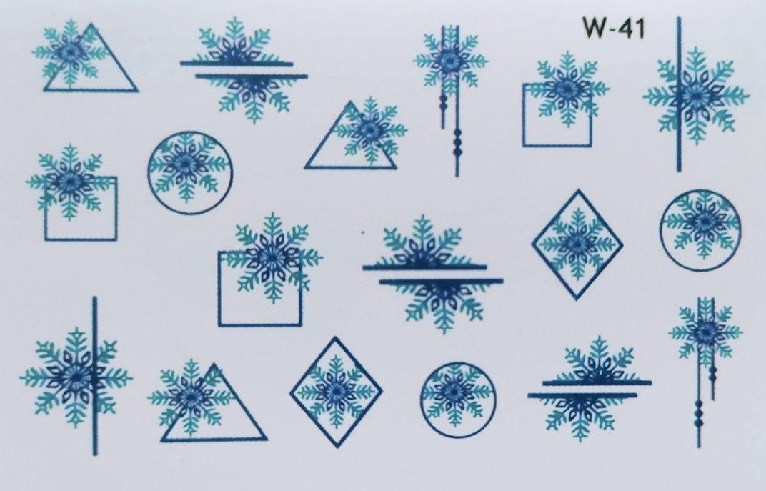Водные наклейки (слайдер дизайн) Новогодний дизайн W-41