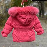Зимняя куртка для девочки БИО-ПУХ Коралл р. 92, 98, 104, 110, фото 2