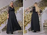 Жіноче ошатне гіпюрову плаття в підлогу батал розміри:50-52,54-56,58-60,62-64, фото 4