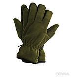 Перчатки плотный флис Тинсулейт Польша - олива, черные., фото 5