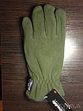 Перчатки плотный флис Тинсулейт Польша - олива, черные., фото 9