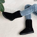 Угги женские черные 5628, фото 8