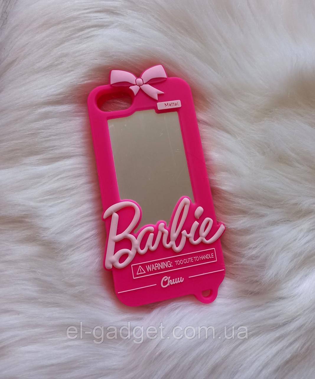 Чехол 3D для iPhone 6 Барби Barbie розовый