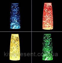 Лава лампа с блестками (звездами) 35 см ночник Glitter Light / светильник глиттер лампа Оранжевая, фото 2