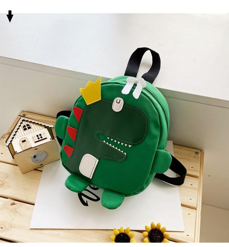 Детский рюкзак зеленый с динозавром