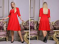 Женское стильное платье на выход креп дайвинг батал размеры:50-52,54-56,58-60,62-64