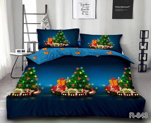 Новогоднее постельное белье Волшебная ночь комплект полуторный, фото 2
