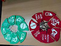 Маска многоразовая защитная для лица из хлопка с модным Новогодним рисунком, разные цвета
