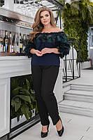 Кофта женская нарядная большие размеры Г0385/1, фото 1