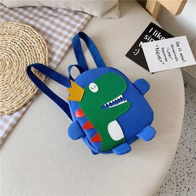 Детский рюкзак синий с динозавром