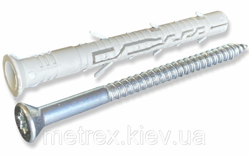 Распорный рамный дюбель нейлон 10х180 KPS FAST S с шурупом с потайной головкой Wkret-Met, 25 шт.