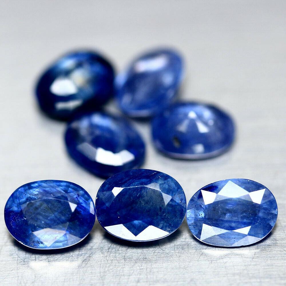 Натуральный синий Сапфир овал