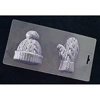 Пластиковая форма для шоколада Шапочка и рукавичка