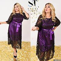 Платье женское нарядное большие размеры Г05396, фото 1
