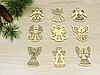 Новорічні янголята з дерева на ялинку (форма №7), фото 2