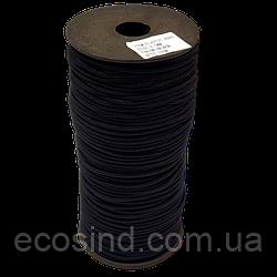 2,5 мм Резинка круглая (шляпная) черная 100 ярд. (СИНДТЕКС-0281)