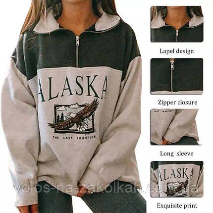 Кофта свитер женский  теплый с начёсом АLYSKA, фото 2